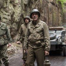 The Monuments Men: George Clooney, Bill Murray e Bobo Balaban in una scena del film