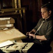 The Monuments Men: Matt Damon è pensieroso
