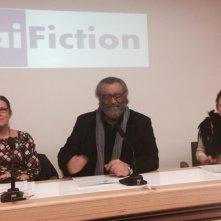 L'assalto: Diego Abatantuono alla conferenza di presentazione della fiction a Milano