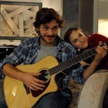 Sotto una buona stella: Tea Falco e Lorenzo Richelmy, fratello e sorella nel film, sul set