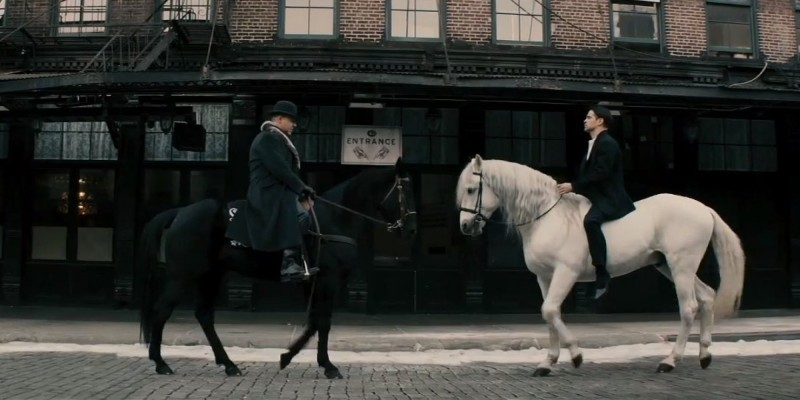 Storia D Inverno Colin Farrell E Russell Crowe Si Affrontano A Cavallo In Una Scena Del Film 297937
