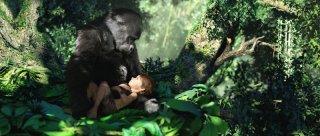 Tarzan: il piccolo Tarzan in un'immagine dello spettacolare film animato in 3D