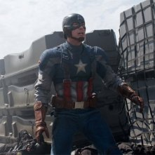 Captain America: The Winter Soldier: Chris Evans nella tuta di Capitan America