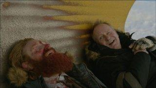 In Order of Disappearance: Stellan Skarsgård in una scena con Kristoffer Hivju