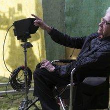 Life of Riley: il regista Alain Resnais sul set