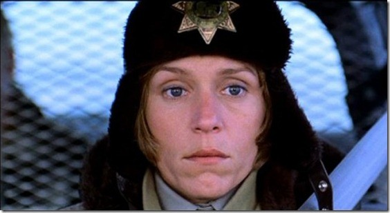 Frances McDormand in una scena di Fargo