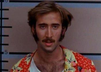 Nicolas Cage in una scena di Arizona Junior