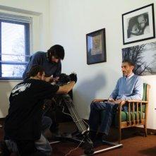 Ancora cinque minuti: Antonio Carletti sul set con la troupe e con il regista Lucio Laugelli