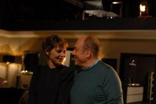 Sotto una buona stella: Paola Cortellesi e Carlo Verdone sul set del film