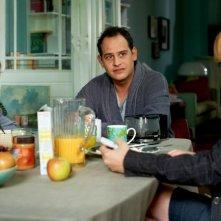 Vijay and I: Moritz Bleibtreu con Patricia Arquette e Catherine Missal in una scena del film