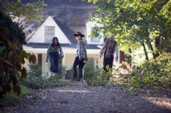 The Walking Dead: Chandler Riggs attaccato da due Erranti nell'episodio Smarriti