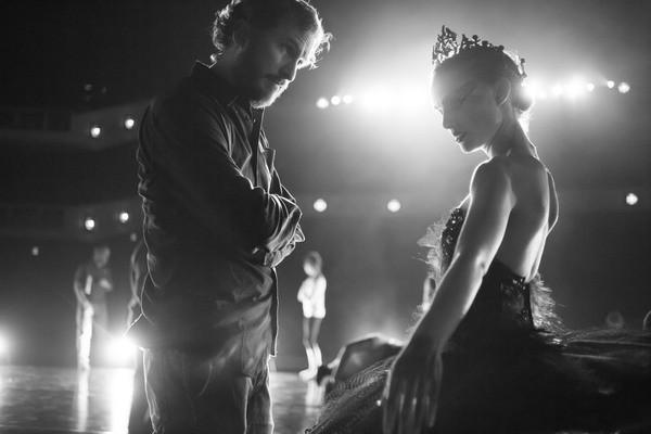 Darren Aronofsky sul set di Black Swan con Natalie Portman