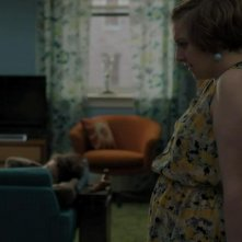 Girls: Lena Dunham in un momento dell'episodio Only Child della terza stagione