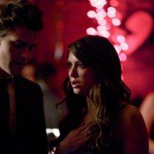 The Vampire Diaries: Paul Wesley e Nina Dobrev in una scena dell'episodio Total Eclipse of the Heart