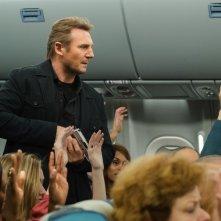 Non-Stop: Liam Neeson in una scena del film
