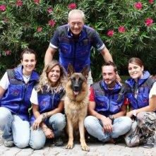 Rex 6: Massimo Perla ed il suo staff con il cane interprete di Rex