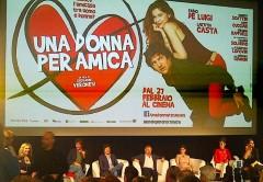 Fabio De Luigi e Laetitia Casta al cinema con Una donna per amica