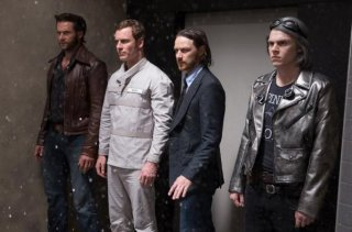 X-Men: Giorni di un futuro passato - Hugh Jackman, Michael Fassbender, James McAvoy ed Evan Peters in azione