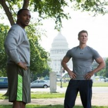 Captain America: The Winter Soldier: Chris Evans e Anthony Mackie in tenuta sportiva