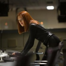 Captain America: The Winter Soldier - Scarlett Johansson al computer