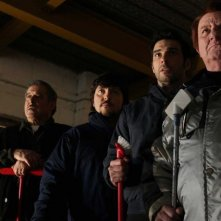 La mossa del pinguino: i quattro protagonisti del film in una scena