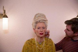The Grand Budapest Hotel: Tilda Swinton al trucco