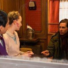 The Grand Budapest Hotel: Toni Revolori e Saoirse Ronan insieme al regista Wes Anderson