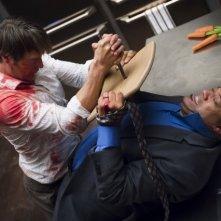 Hannibal: Laurence Fishburne e Mads Mikkelsen nell'episodio Kaiseki