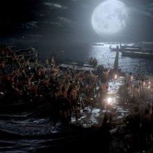 300 - L'alba di un impero: una scena notturna tratta dal film