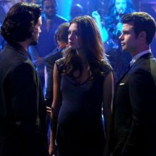 The Originals: Daniel Gillies, Nathan Parsons con Phoebe Tonkin in una scena dell'episodio Moon Over Bourbon Street