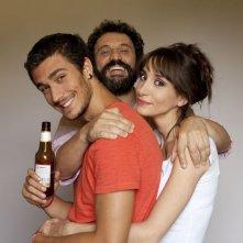 La luna su Torino: Walter Leonardi, Manuela Parodi ed Eugenio Franceschini in una foto promozionale