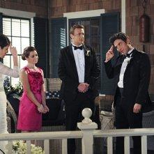 How I Met Your Mother: Alyson Hannigan, Neil Patrick Harris, Jason Segel, Josh Radnor, Cobie Smulders nel finale di serie