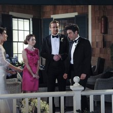 How I Met Your Mother: Neil Patrick Harris, Alyson Hannigan, Jason Segel, Josh Radnor, Cobie Smulders nel finale di serie