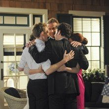 How I Met Your Mother: Neil Patrick Harris con Alyson Hannigan, Jason Segel, Josh Radnor, Cobie Smulders nel finale di serie