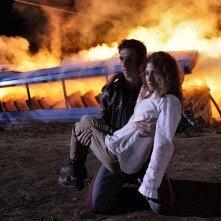 Nottetempo: Giorgio Pasotti in una drammatica scena del film con Nina Torresi