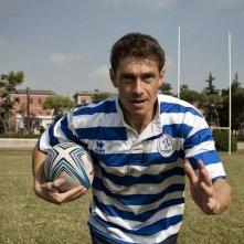Nottetempo: Giorgio Pasotti in una scena del film durante una partita di rugby
