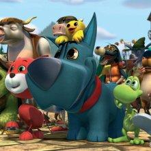 Cuccioli - Il paese del vento: una scena del film animato