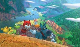 Cuccioli - Il paese del vento: una scena del film d'animazione