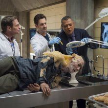Hannibal: Laurence Fishburne con Scott Thompson, Aaron Abrams nell'episodio Takiawase