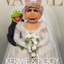 Muppets Most Wanted - Kermit & Piggy rifanno la celebre cover di Vogue con Kim Kardashian e Kanye West.