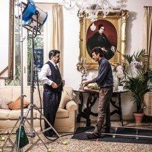 Il pretore: Francesco Pannofino con il regista Giulio Base sul set