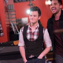 Glee: Chris Colfer in una scena dell'episodio New New York della quinta stagione