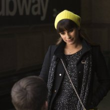 Glee: Lea Michele in una scena dell'episodio New New York