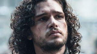Il trono di spade: Kit Harington durante una scena della quarta stagione della fantasy series