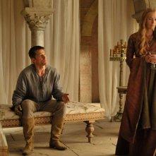 Il trono di spade: Nikolaj Coster-Waldau e Lena Headey nell'episodio Two Swords
