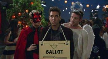 How I Met Your Mother: Josh Radnor in una scena dell'episodio La zucca supersexy