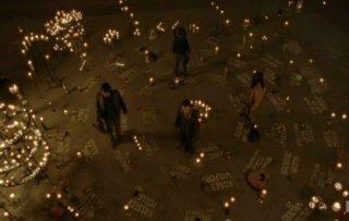 The Walking Dead: Norman Reedus, Andrew Lincoln, Chandler Riggs e Danai Gurira a Terminus, nell'episodio A