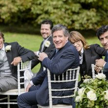 Un matrimonio da favola: Adriano Giannini, Emilio Solfrizzi e Riccardo Rossi durante la cerimonia