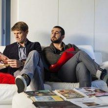 Un matrimonio da favola: Luca Angeletti in una scena del film con Giorgio Pasotti