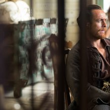 Black Sails: Toby Stephens in una scena del settimo episodio della prima stagione